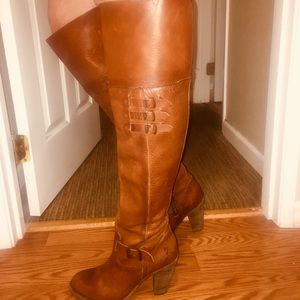 Over the knee Frye leather boots